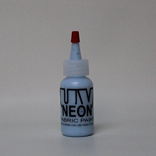 Baby Blue UV Reactive Fabric Material Paint 1oz]()
