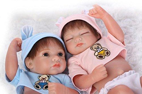 Amazon.com: 10 inch Full bebé de silicona BORN dos muñecas ...