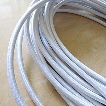 per Esterno Bianca e Nera 5mm Elastica MRSA 20 Metri Nera Corda Elastica Elastica per Cordoncino Elastico Resistente per riparazioni