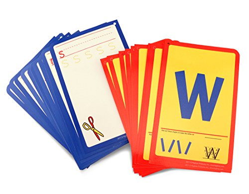 Hygloss Products Student Alphabet Language Cards, Lowercase Letters - 32 Write & Wipe for Kinesthetic ()