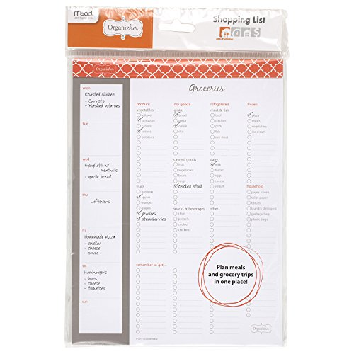"Mead Organizher Magnetic Shopping List, 10"" x 7-3/8"", 75 Sheets, Groceries List (WUN20238)"