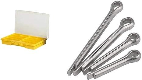 Sicherungsstifte 10 Stück Splinte 1,6x20 mm Ø 1,6mm A2 Edelstahl DIN 94
