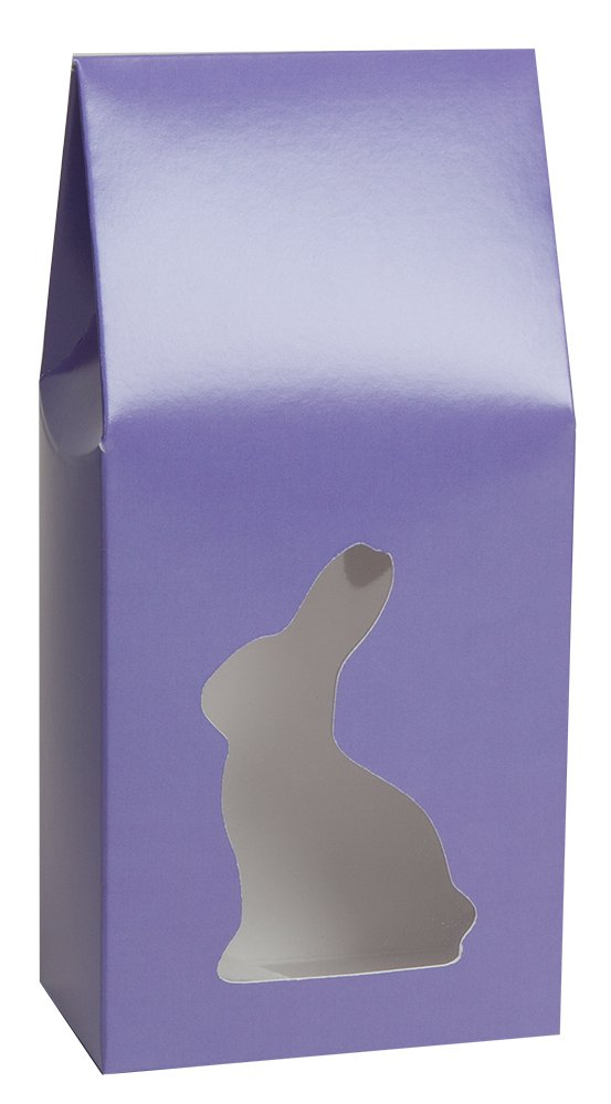 Easter Tapered Tote with Bunny Window by Tap - Case of 100 (1 pound, Purple)