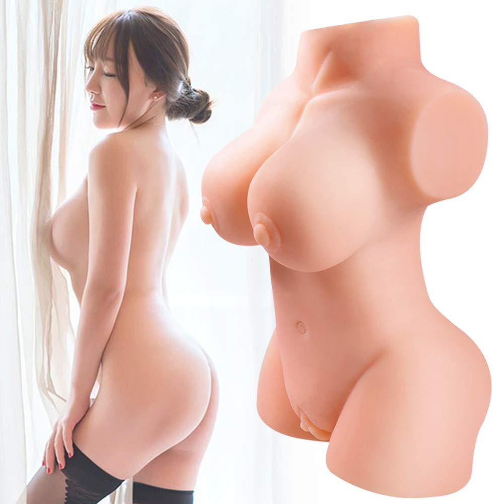 Lifesize Pussycat Dolls Realistic Male Adult Toys with 2 Entries - Super Soft & Lifelike Torso Doll