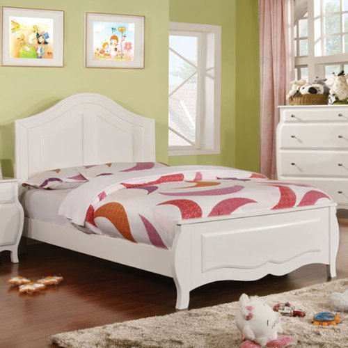 24/7 Shop at Home 247SHOPATHOME IDF-7940F Childrens-Bed-Frames, Full, White