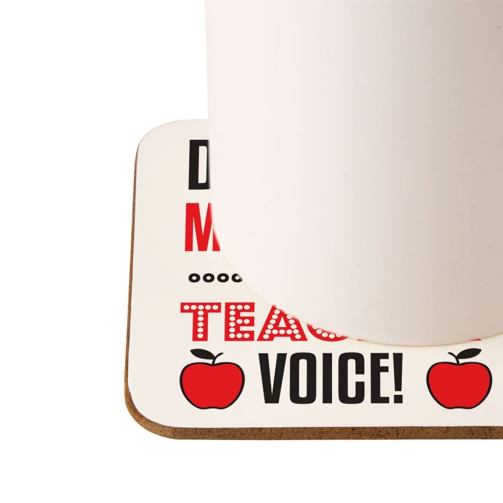 Teaching Christmas Thank You Gifts Personalised Teacher Voice Drinks Coaster End of Term Gift Ideas