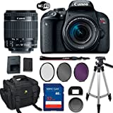 Canon EOS Rebel T7i DSLR Camera with Canon EF-S 18-55mm f/4-5.6 IS STM Lens + Accessory Bundle including 32GB Memory Card, High-Def Filters, Deluxe Camera Bag, Tripod and More…