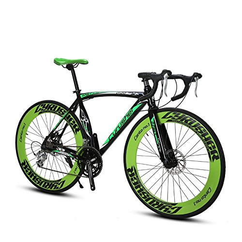 Extrbici XC700 自転車 ロードバイク シマノ14段ギア 変速 クロスバイク アルミフレーム 700C ディスクブレーキ 街乗り 軽量 男女兼用 B07DMK6ZSF グリーン グリーン