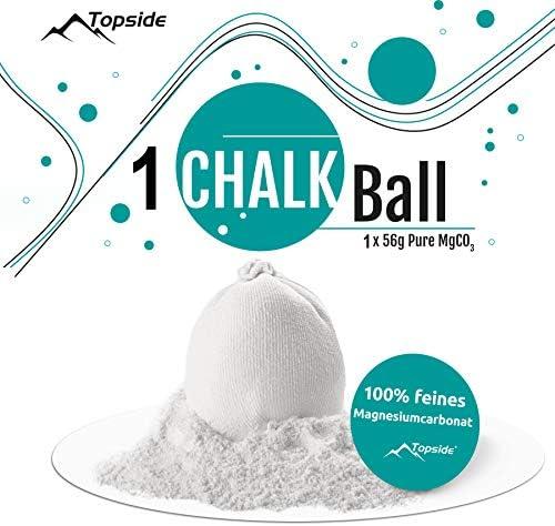 TOPSIDE 56g Chalk Bälle (3 Stück / 6 Stück / 9 Stück) für Bouldern, Klettern und Crossfit