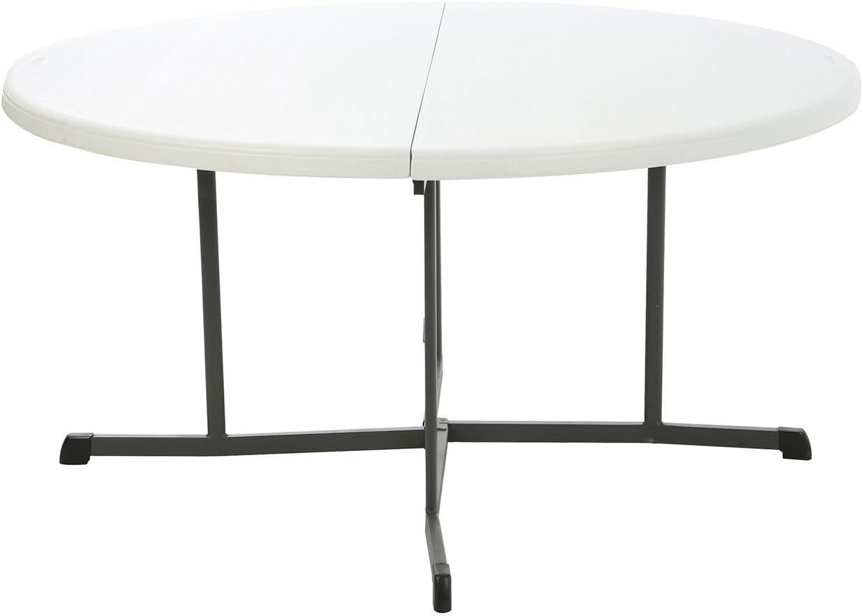 Lifetime 60 Round Fold In Half Commercial Grade Table White Granite Furniture Decor Amazon Com