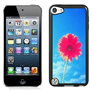 Beautiful Unique Designed iPod Touch 5 Phone Case With Pink Flower Blue Sky_Black Phone Case
