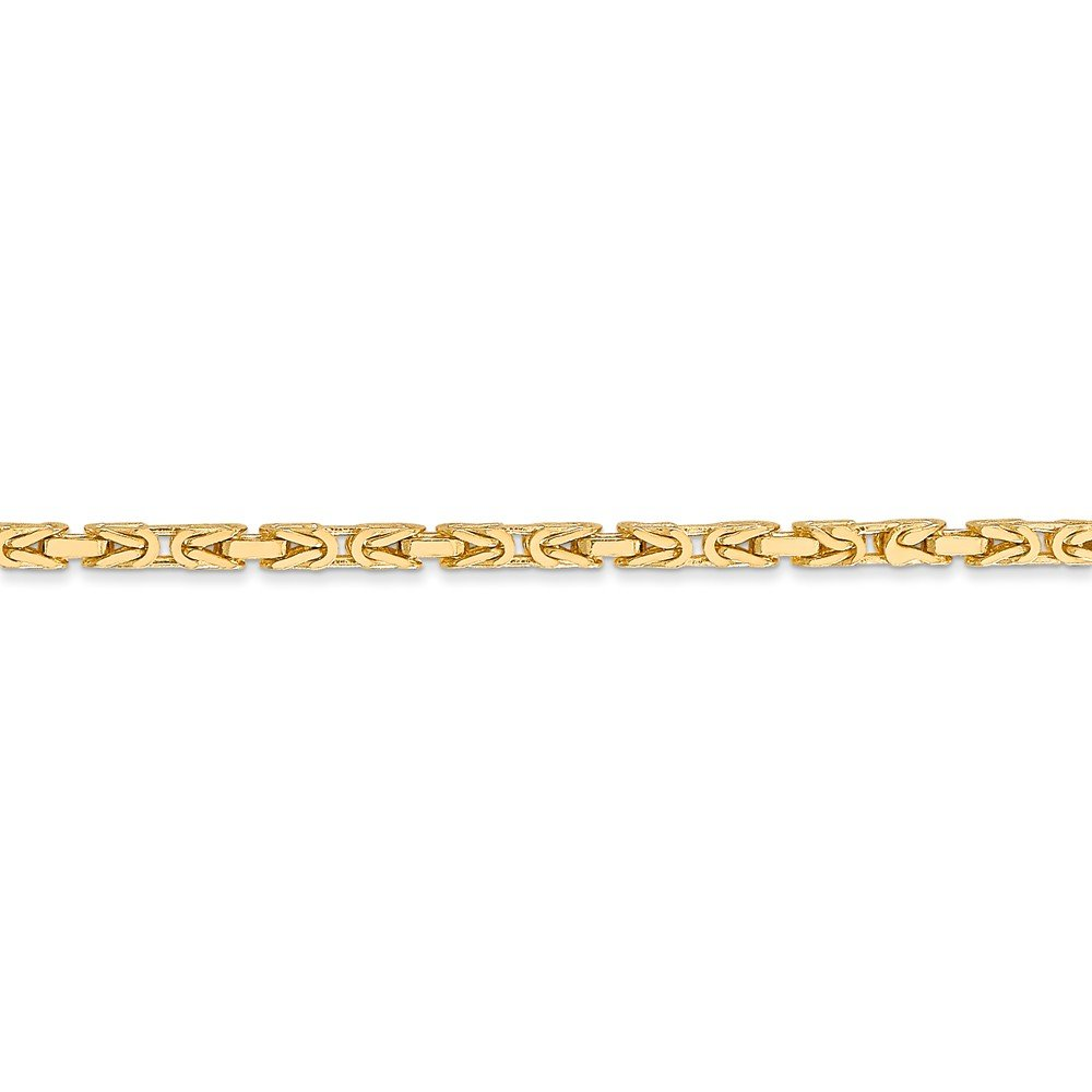 14K Yellow Gold 2mm Byzantine Chain by Jewels By Lux (Image #3)