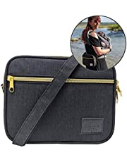 TOKKIE BABE Baby Carrier Extension Storage Pouch - Fit All Essentials for Diapers, Changing Pad, Wipes, Pacifiers, Smart Phones and Wallets Compatible with Lillebaby, Tula and More