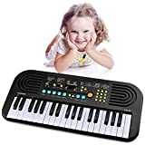 : Piano keyboard for kids, Keyboard Piano 37 Keys Multifunction Portable Piano Electronic Keyboard Music Instrument for Kids Early Learning Educational Toy for 3-12 Year Old Girls Boys Gifts Age 3-12