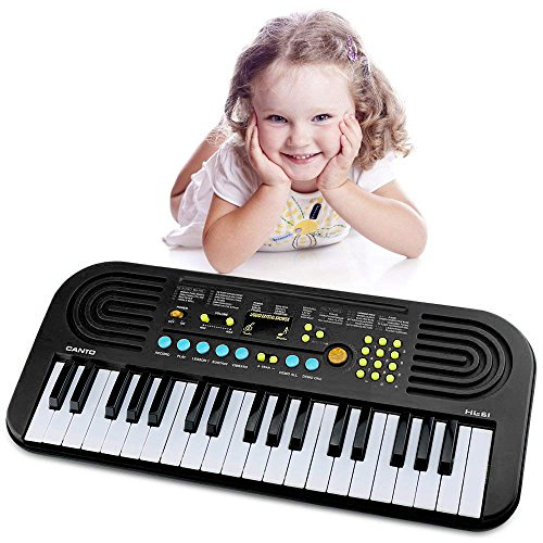Piano keyboard for kids, Keyboard Piano 37 Keys Multifunction Portable Piano Electronic Keyboard Music Instrument for Kids Early Learning Educational Toy for 3-12 Year Old Girls Boys Gifts Age 3-12