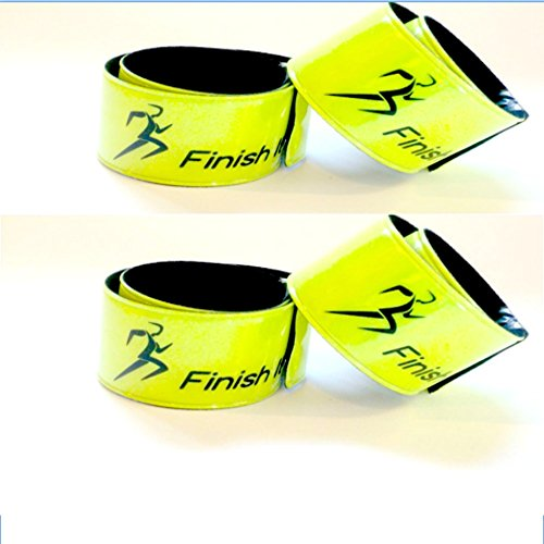 Finish It! Gear - 4 Pack- Reflective Snap Wrist & Ankle Bands - Reflective Gear for Running, Walking, ()