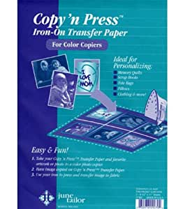 "Copy 'n Press Iron-On Transfer Paper 8-1/2""X11"" 3/Pkg"