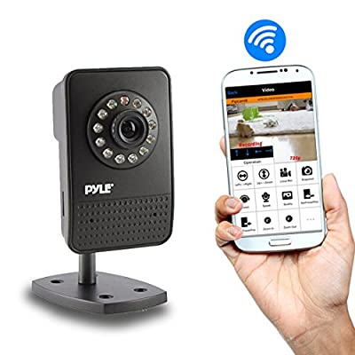 Indoor Wireless Security Surveillance IP Camera with Motion Detection and Night Vision - Connect to your Home Wifi Network for Remote Access to Live Video - PIPCAM12