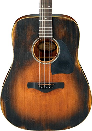 - Ibanez AVD6 Artwood Vintage Distressed Dreadnought Acoustic Guitar Tobacco Sunburst