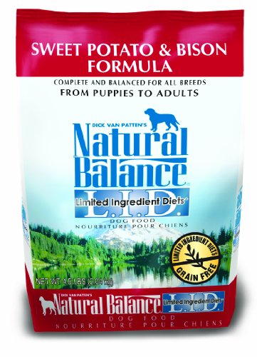 Natural Balance Limited Ingredient Diets Dry Dog Food, Grain Free, Sweet Potato And Bison Formula, 4.5-Pound ()
