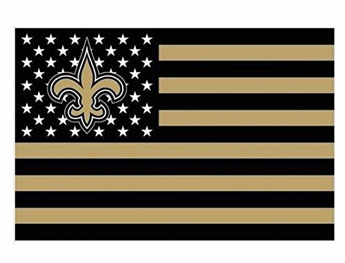 NFL New Orleans Saints Stars and Stripes Flag Banner - 3X5 FT - USA FLAG