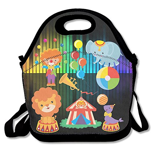 Hoeless Circus,Clown,Circus Animal Insulated Lunch Backpack With Zipper,Carry Handle And Shoulder Strap For Adults Or Kids - Az Stores In Scottsdale