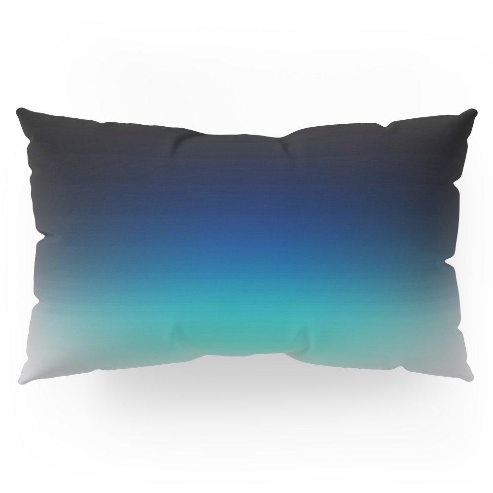 Society6 Blue Gray Black Ombre Pillow Sham King (20'' x 36'') Set of 2