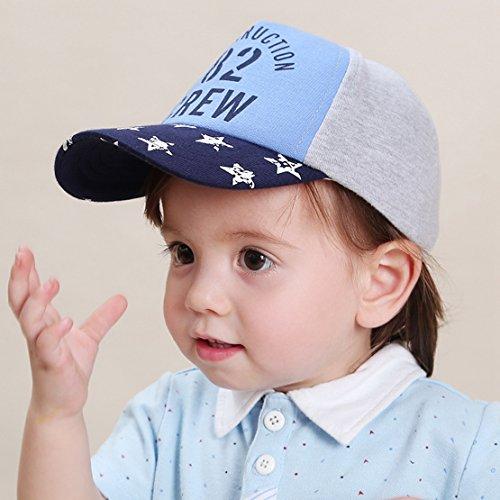 a052e66865e Happy Cherry Casquette de Base-Ball Bleu Bébé Garçon Fille Toddler en Coton  Imprimé à Etoile 82 Chapeau Réglable Respirant Hat Cap en Plein Air Pêche  Voyage ...