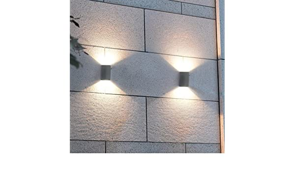 Amazon.com: Blanco cálido, 6-10W : Lumiere exterieur Lampe Waterproof up and Down Garden Outside Wall Porch lamp Scone focos led 220v Exterior buiten ...