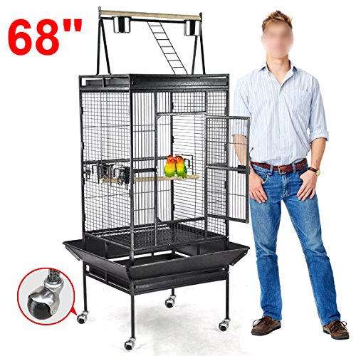 Yaheetech Pet Supply Large Bird Cage Play Top Parrot Finc...