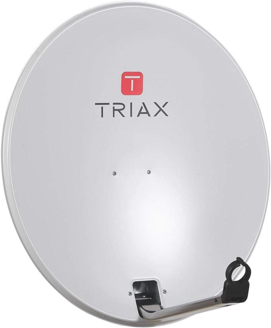 Triax TDA 64 antena parabólica 64 cm aluminio blanca: Amazon ...