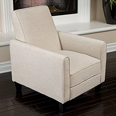 Best Selling Davis Fabric Recliner Club Chair, Light Beige