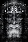 Shroud Of Turin Black And White Negative Inspirational Motivational Religious Poster 12x18