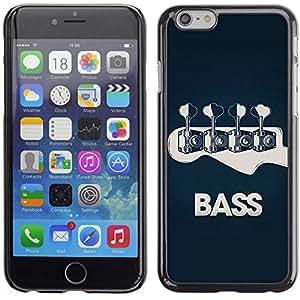 CASECO Bass Guitar Music Band Apple Iphone 6 Plus 5.5 - - Prima Delgada SLIM Casa Carcasa Funda Case Bandera Cover Armor Shell PC / Aliminium