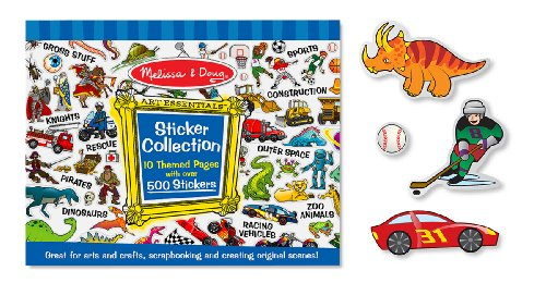 Melissa & Doug Sticker Collection Book: Dinosaurs, Vehicles, Space