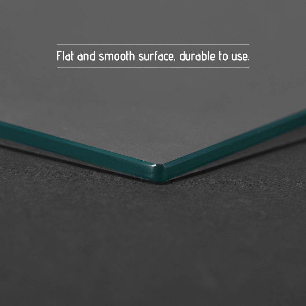 Sturdy durable 3D Printer Glass Clear Borosilicate Glass Heat Bed 3D Printer Heated Bed Glass Plate Panel 220 X 220 X 3mm Build Surface Build Plate for 3D Printer and Other Small Appliances Series R
