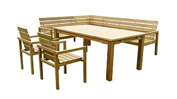 4 PiècesEn Bois 1 De Teck Sam 2 Groupe Jardin X Extensible Table l3uKF1cTJ