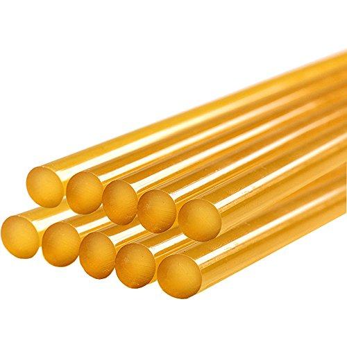 (GLISTON Dent Repair Glue Sticks, Paintless Dent Repair Tool Glue Sticks for Hot Glue Gun Car Repair Dent Rmover Tool Set - 10 PCS Yellow Glue)