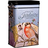 FRENCH GARDEN - JARDINIERE - Classic French Romantic Retro Vintage Style - Rectangular Coffee Tin / Tea Caddy / Kitchen Storage Tin/Canister - hermetically sealed by Buzz