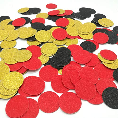 Hemarty Casino Confetti Table Decoration and Las Vegas Theme Party Decoration 1.2 Inches in Diameter, Pack of 200 ()