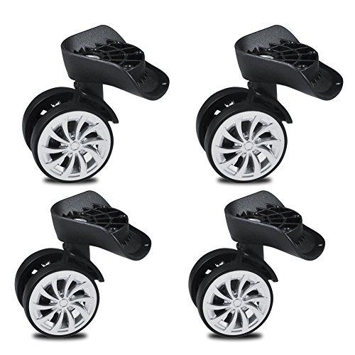 Ruedas giratorias, ruedas giratorias de goma de 55 mm, ruedas giratorias para ruedas de cochecito, ruedas giratorias de repuesto para equipaje, maleta de ...