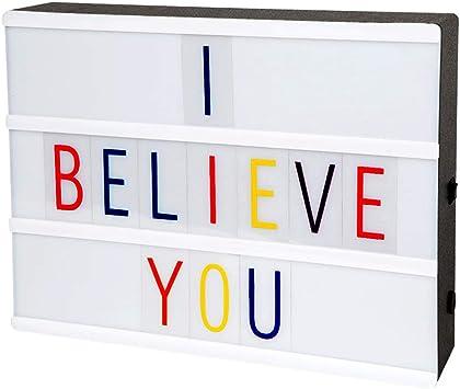 LitEnergy A4 caja de luz cinematográfica con luz LED y letras de ...