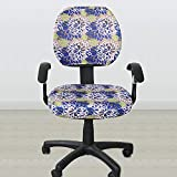 Maslin Top Sale Elastic Fabric Spandex Seat Covers for Computer Chairs Office Chair Gaming Chair Easy Washable Removeable - (Color: 3, Specification: no armrest Cover)