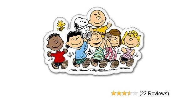 "Snoopy Woodstock Love Charlie Brown Cartoon Car Bumper Vinyl Sticker Decal 4/""X5/"""