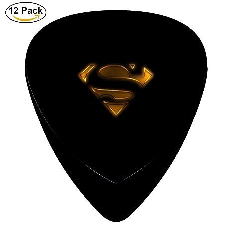 TG Superman Logo Púa De Guitarra/juego de ganzúas/púas para ...