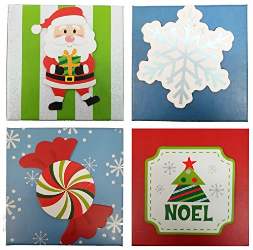 Christmas Square Gift Card Holder Boxes (Set of 4)