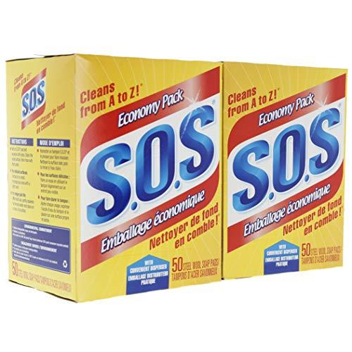 S.O.S Steel Wool Soap Pads - 100 Pads ()