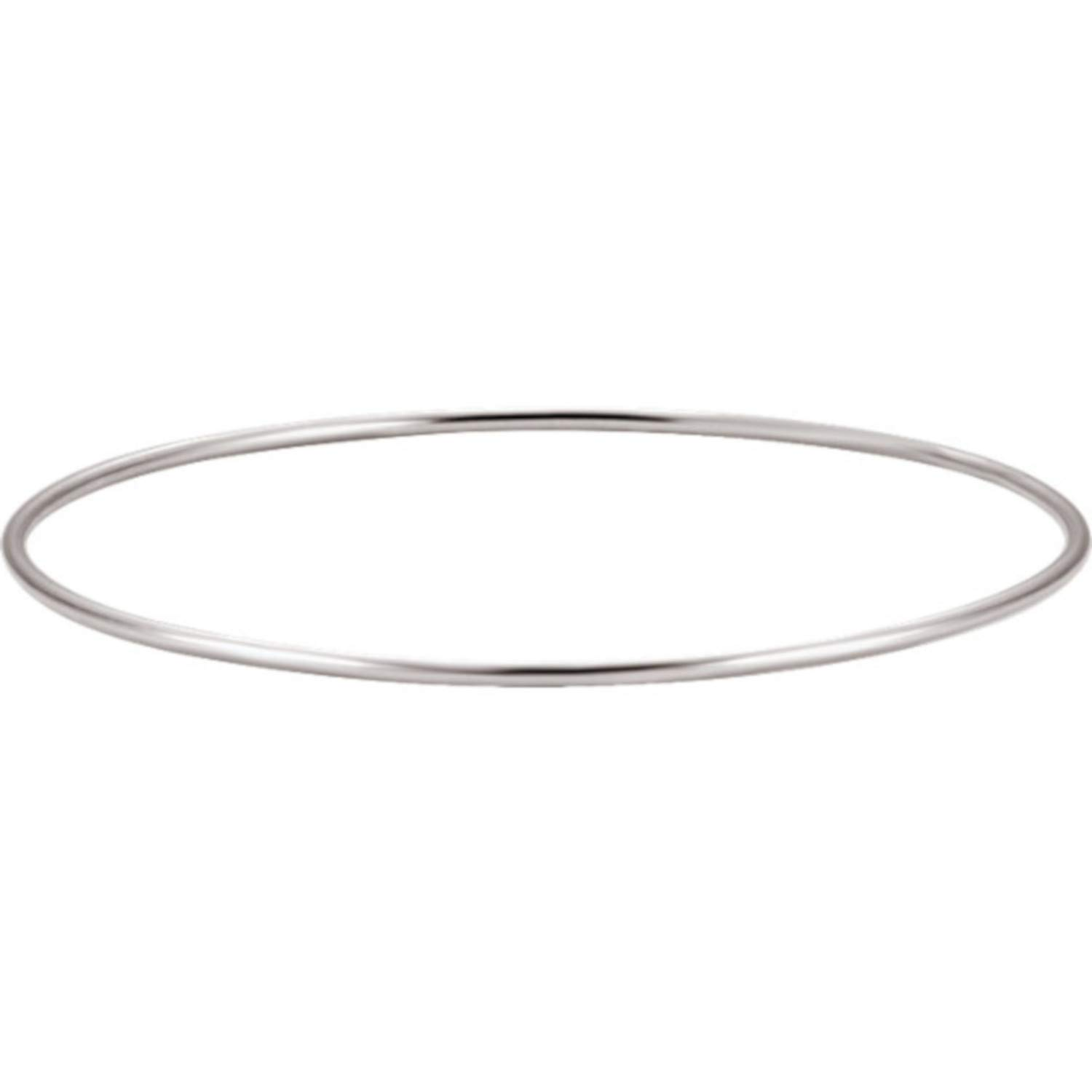 EVHjewelry.com 18k GP 1.5mm Bangle Bracelet Size 8