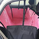 HAOCOO Pet Seat Cover Waterproof and Washable for Cars - SUV - Vans & Trucks (Pink Flower)