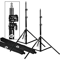 PBL BACKDROP BACKGROUND SUPPORT STAND SYSTEM PHOTOGRAPHY STUDIO VIDEO 10\'X12\' HEAVY DUTY BACKGROUND STANDS , SPRING LOADED NEWLY PATENTED 12\' CROSS BAR by PBL